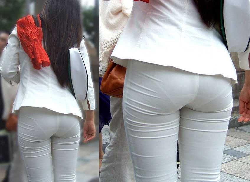 【パンティーラインエロ画像】素人美女のピタパンやタイトスカートから見えるパンティーラインを盗撮!美尻に顔面突っ込みたくなるパンティーラインのエロ画像集!ww【80枚】 45