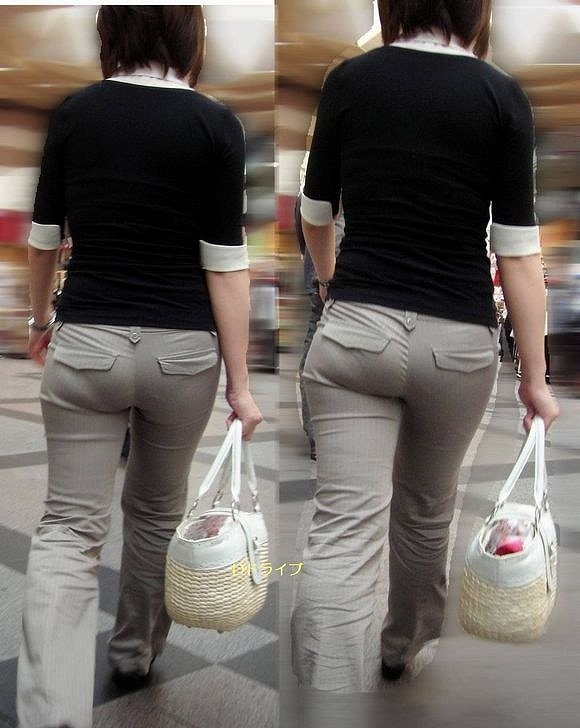 【パンティーラインエロ画像】素人美女のピタパンやタイトスカートから見えるパンティーラインを盗撮!美尻に顔面突っ込みたくなるパンティーラインのエロ画像集!ww【80枚】 61
