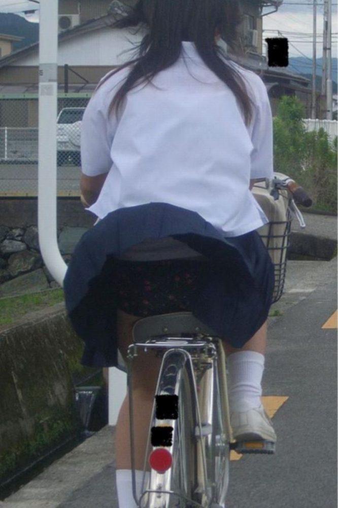 【自転車パンチラエロ画像】自転車通学中の素人JKやリクルートスーツの就活JD、買い物中のミニスカギャルのパンチラ盗撮に成功した自転車パンチラのエロ画像集!w【80枚】 58