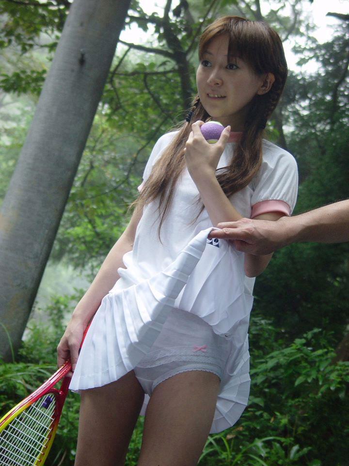 【テニスウェアエロ画像】お嬢様系アスリート、テニス美少女のテニスウェアやアンスコをめくって汗ばむおっぱいを揉みまくったテニスウェアのエロ画像集!w【80枚】 76