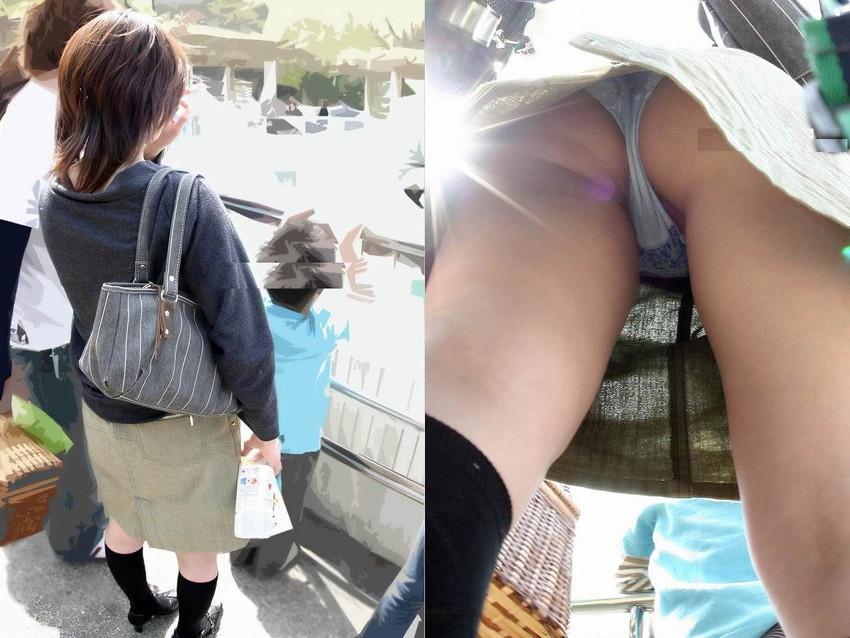 【パンチラママエロ画像】子供に気を取られてパンチラしてる素人奥さんの股間を盗撮したったパンチラママのエロ画像集!w【80枚】 22