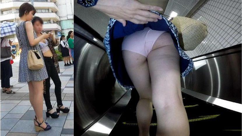 【スカートめくりエロ画像】素人娘に後ろから近づきスカートめくりでパンモロさせたり、スカート巾着めくりで全裸露出させちゃったスカートめくりのエロ画像集!ww【80枚】 32