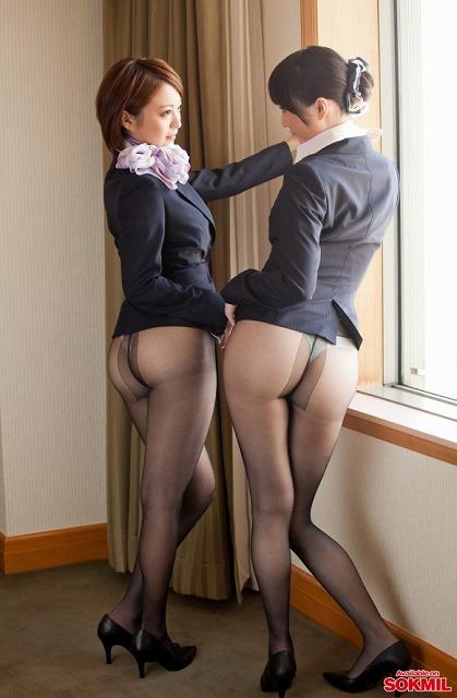 【キャビンアテンダントエロ画像】超美人でパンスト履いてタイトスカートのCA達が美し過ぎて制服のままセックスしちゃったキャビンアテンダントのエロ画像集ww【80枚】 78