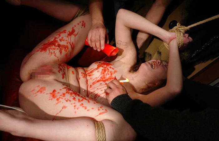 【蝋責めエロ画像】蝋燭(ローソク)責めで生意気娘を緊縛状態でアチアチ調教したった蝋責めのエロ画像集ww【80枚】 13