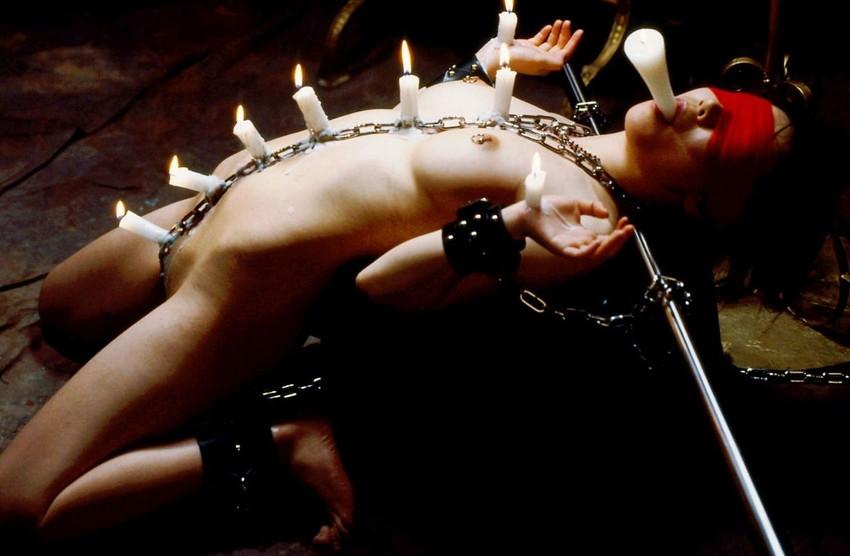 【蝋責めエロ画像】蝋燭(ローソク)責めで生意気娘を緊縛状態でアチアチ調教したった蝋責めのエロ画像集ww【80枚】 64