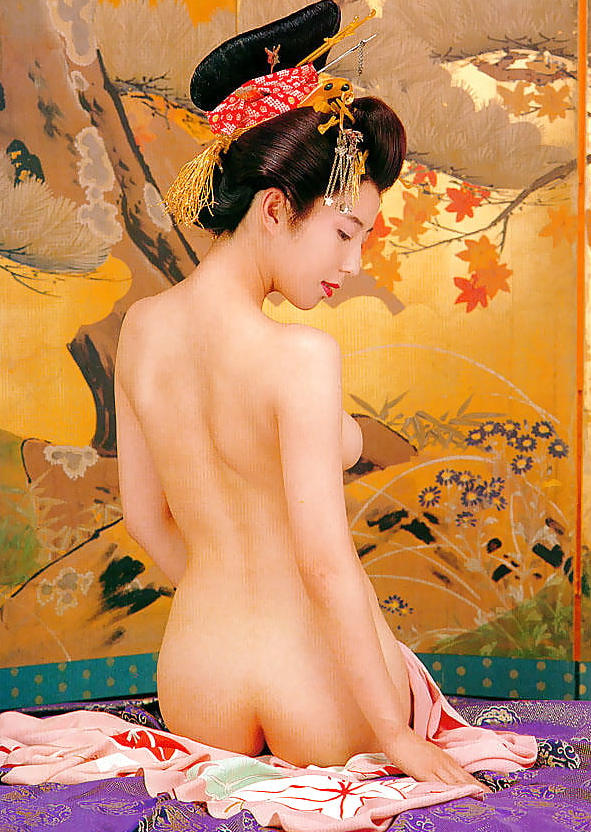【花魁エロ画像】美し過ぎる着物で着飾ったS級和服美女の花魁が胸チラやご奉仕セックスしてくれる花魁エロ画像集ww【80枚】 53