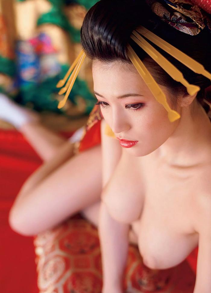 【花魁エロ画像】美し過ぎる着物で着飾ったS級和服美女の花魁が胸チラやご奉仕セックスしてくれる花魁エロ画像集ww【80枚】 54