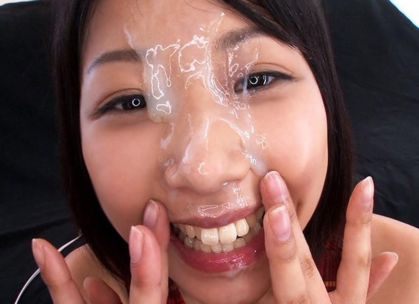 【顔射エロ画像】ロリ美少女や生意気な小悪魔ギャルに大量顔射wキレイなお顔がザーメンまみれの顔射エロ画像集!ww【80枚】 08