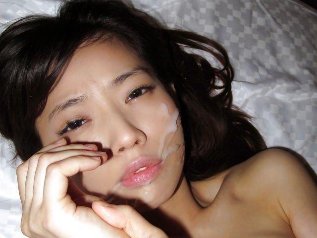 【顔射エロ画像】ロリ美少女や生意気な小悪魔ギャルに大量顔射wキレイなお顔がザーメンまみれの顔射エロ画像集!ww【80枚】 11