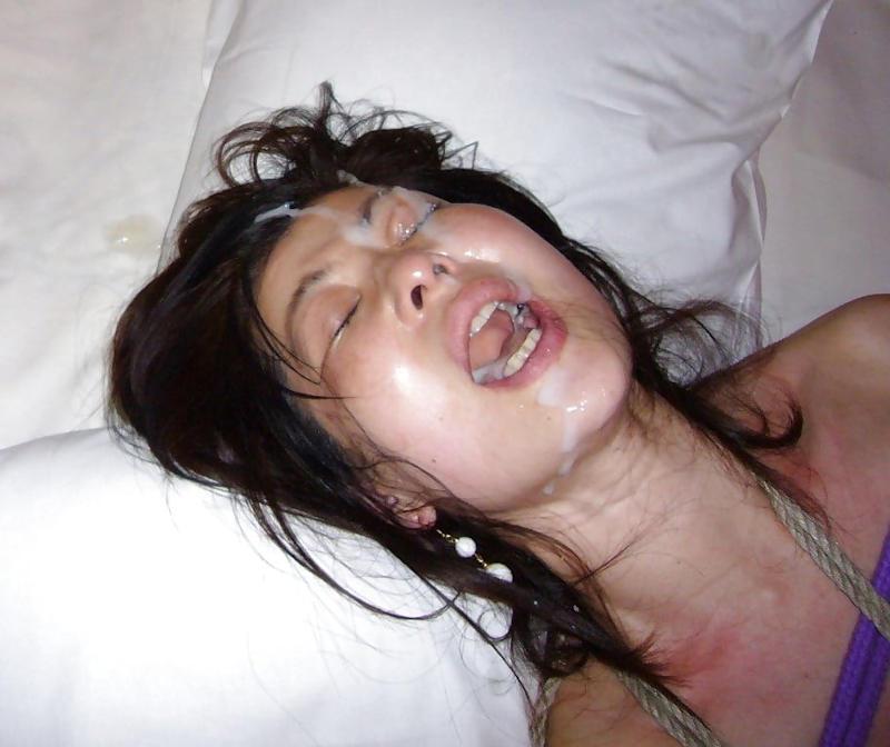 【顔射エロ画像】ロリ美少女や生意気な小悪魔ギャルに大量顔射wキレイなお顔がザーメンまみれの顔射エロ画像集!ww【80枚】 39