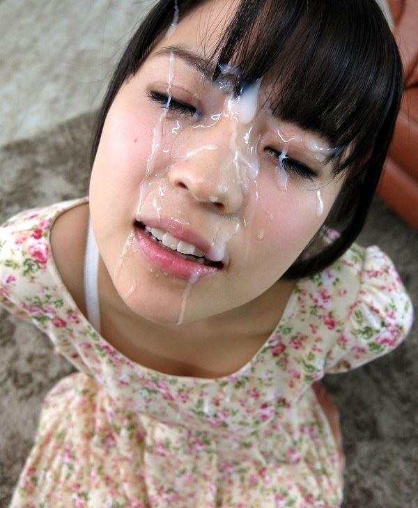 【顔射エロ画像】ロリ美少女や生意気な小悪魔ギャルに大量顔射wキレイなお顔がザーメンまみれの顔射エロ画像集!ww【80枚】 53