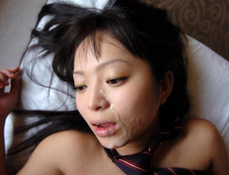 【顔射エロ画像】ロリ美少女や生意気な小悪魔ギャルに大量顔射wキレイなお顔がザーメンまみれの顔射エロ画像集!ww【80枚】 55