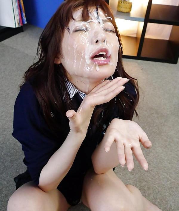 【顔射エロ画像】ロリ美少女や生意気な小悪魔ギャルに大量顔射wキレイなお顔がザーメンまみれの顔射エロ画像集!ww【80枚】 57