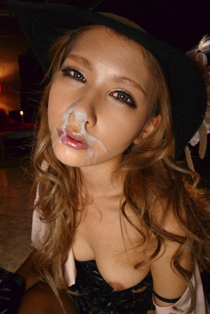 【顔射エロ画像】ロリ美少女や生意気な小悪魔ギャルに大量顔射wキレイなお顔がザーメンまみれの顔射エロ画像集!ww【80枚】 76
