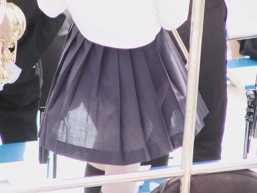 【透けスカートエロ画像】スカート透けてパンティー丸見えなのに気づかない素人女子たちの透けスカートのエロ画像集!ww【80枚】 09