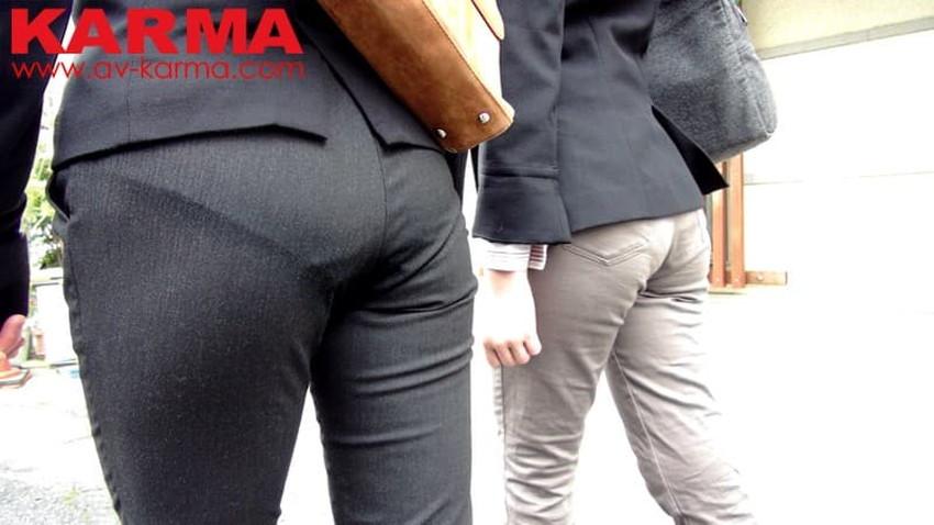 【パンツスーツエロ画像】キャリアウーマン風のパンツスーツOLのパンティーラインを盗撮したり着衣セックスで調教しちゃったパンツスーツのエロ画像集!ww【80枚】 21