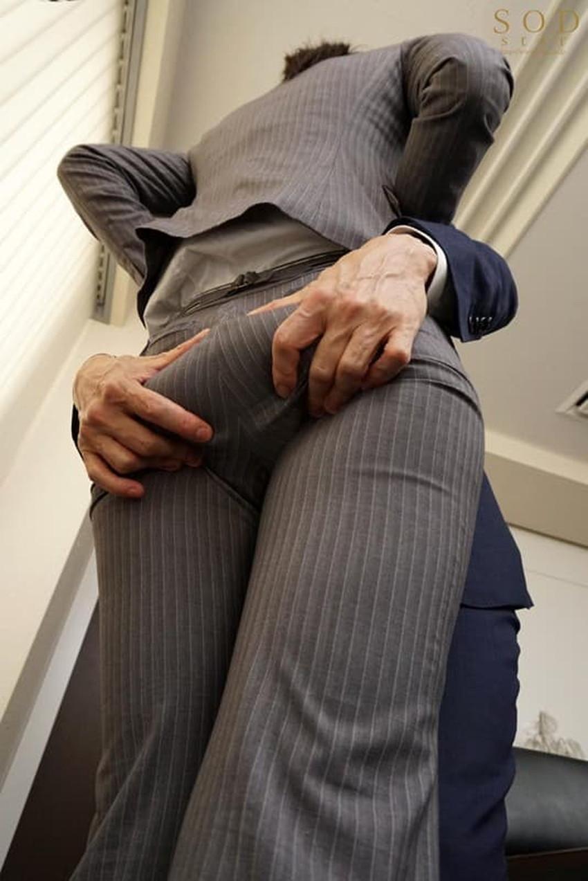 【パンツスーツエロ画像】キャリアウーマン風のパンツスーツOLのパンティーラインを盗撮したり着衣セックスで調教しちゃったパンツスーツのエロ画像集!ww【80枚】 39