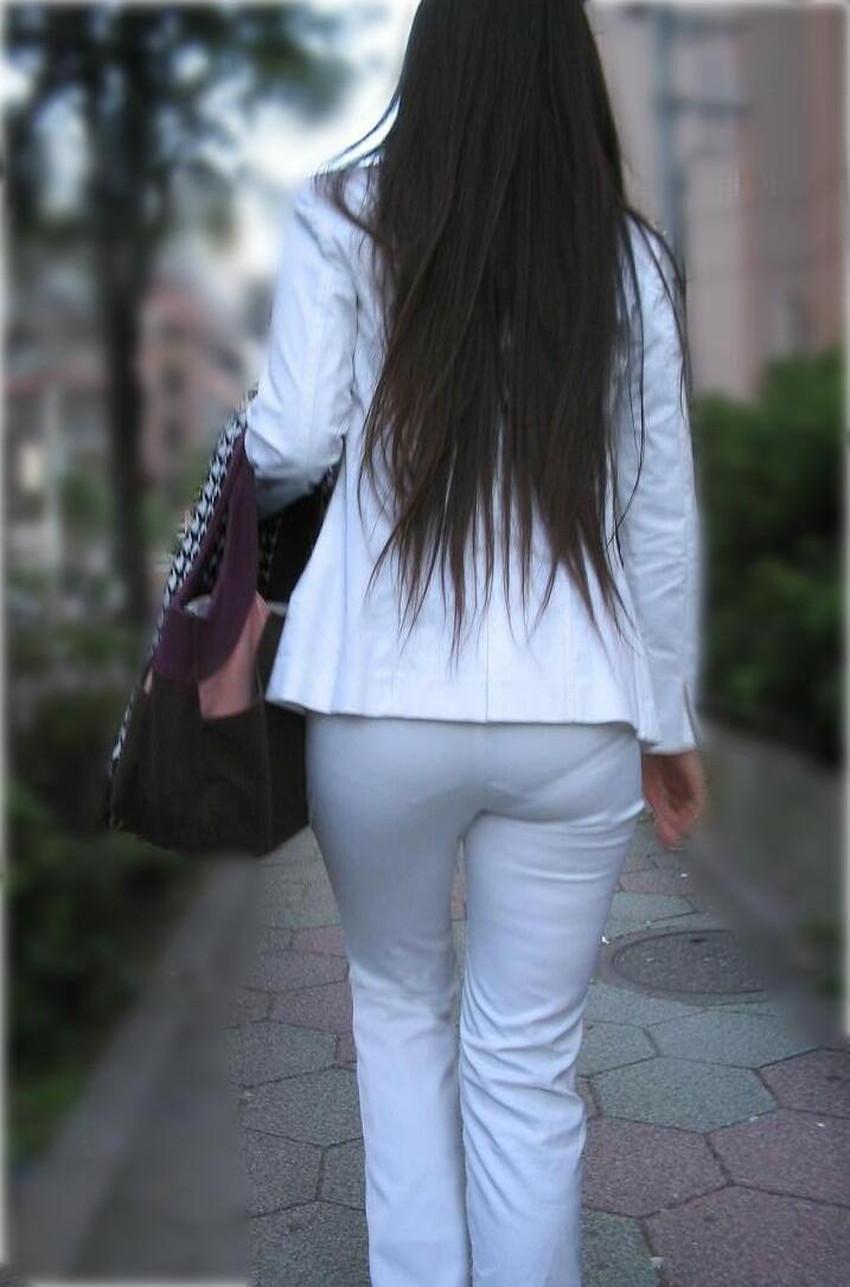 【パンツスーツエロ画像】キャリアウーマン風のパンツスーツOLのパンティーラインを盗撮したり着衣セックスで調教しちゃったパンツスーツのエロ画像集!ww【80枚】 59
