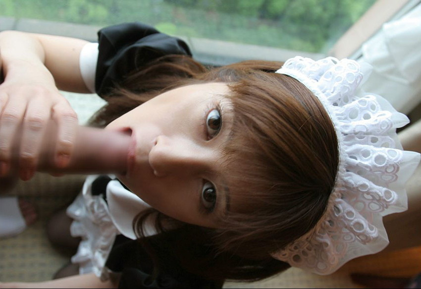 【メイドフェラエロ画像】癒やし系メイドにちんぽをお掃除してもらったメイドフェラのエロ画像集ww【80枚】 58
