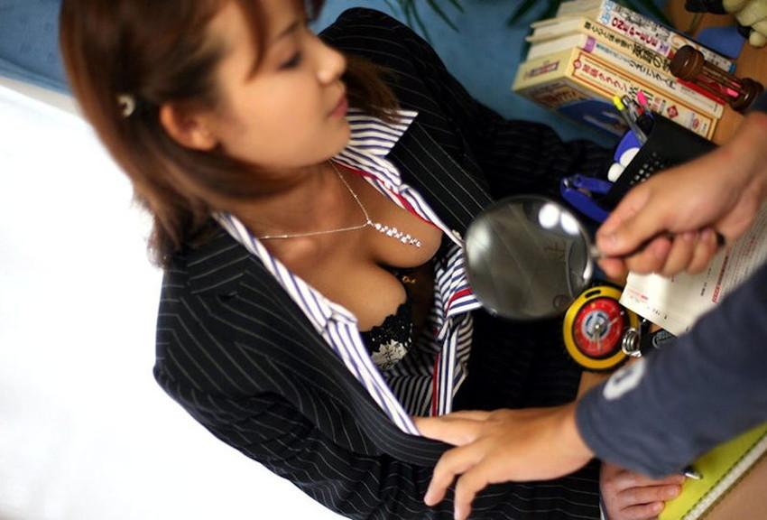 【家庭教師エロ画像】いい香りで美人な家庭教師が前屈みで胸チラ誘惑してきてセックスを教えてくれる家庭教師のエロ画像集ww【80枚】 05