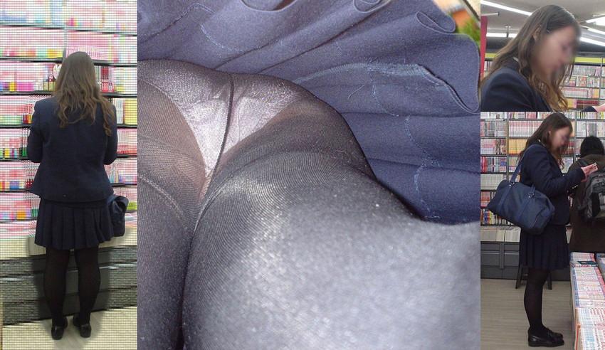 【パンストJKエロ画像】冬服を着た制服JKたちの黒パンストにちんぽを擦りつけて足コキさせたくなるパンストJKのエロ画像集!ww【80枚】 40