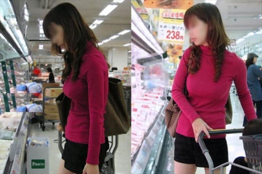 【ニット乳エロ画像】セーターやタートルネックが爆乳ではちきれそうなデカパイ女子達のニット乳のエロ画像集!ww【80枚】 73