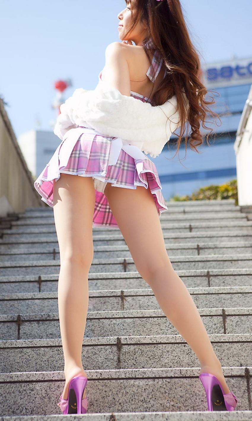 【ミニスカエロ画像】ミニスカ美少女やタイトミニOLの太ももやローアングルパンチラがエロ過ぎるミニスカのエロ画像集!ww【80枚】 64