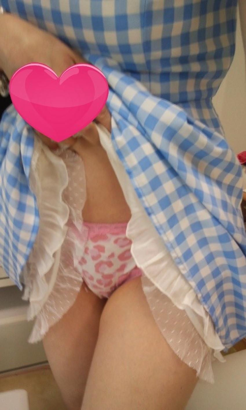 【自撮りパンチラエロ画像】プチ露出狂な素人女子たちが裏垢で自らパンチラさせて自撮りしてくれてる自撮りパンチラのエロ画像集!!【80枚】 49