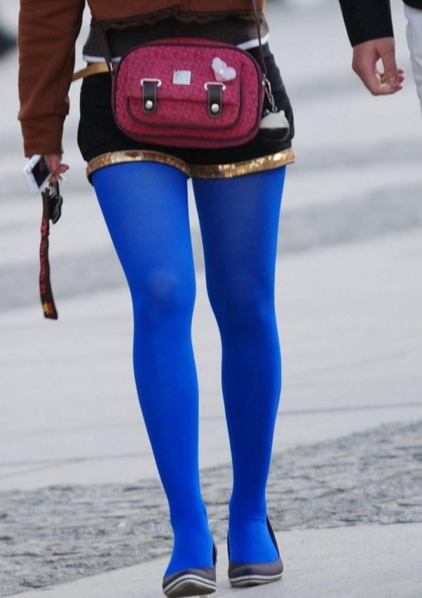 【カラータイツエロ画像】スレンダー美脚やむっちりわがまま美脚のS級女子達がカラータイツ越しに見せるカラフルなパンチラがエロ過ぎるカラータイツのエロ画像集!ww【80枚】 74