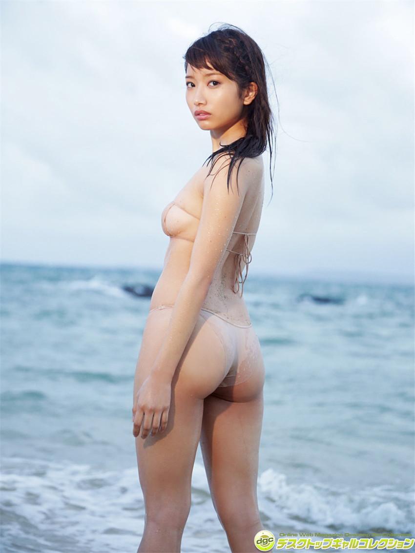【肌色水着エロ画像】濡れると乳首やまんすじに貼り付いて全裸に見える肌色水着、湯葉水着とも言われる肌色水着のエロ画像集!ww【80枚】 59