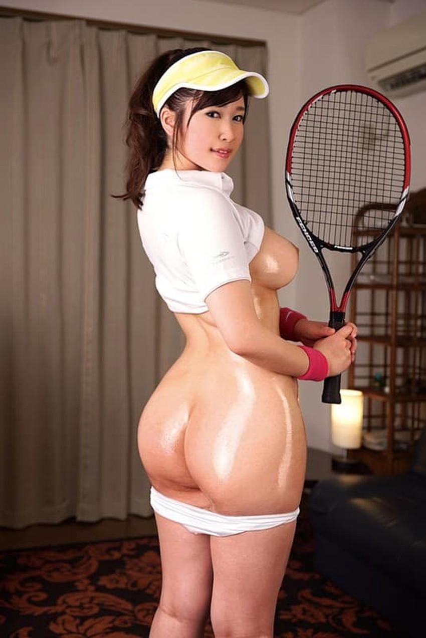 【テニスウェアエロ画像】テニスに勤しむお嬢様系のJDや運動部JKのアンスコやウェアをめくって汗だくセックスしたったテニスウェアのエロ画像集ww【80枚】 50