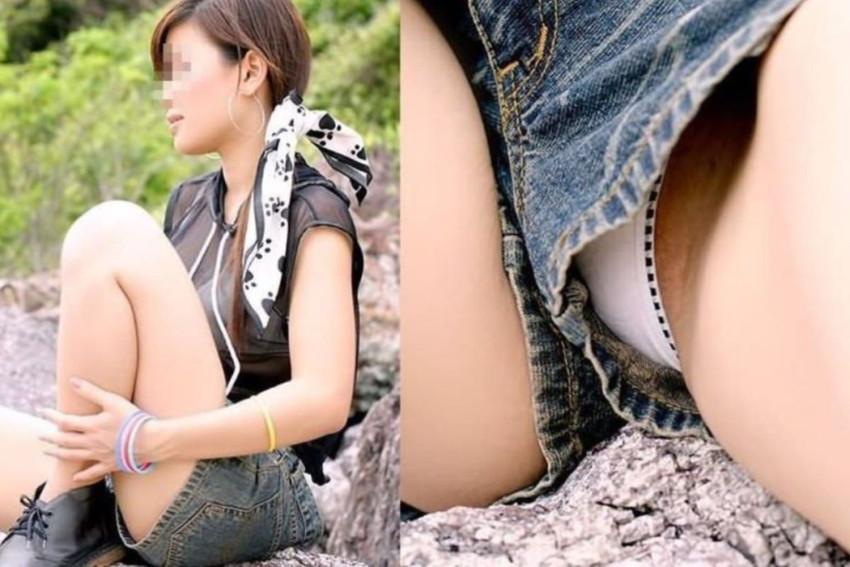 【短パンエロ画像】パツパツの短パン、ショートパンツを履いたままバック挿入したりショーパンパンチラしてるところを隠し撮りした短パンのエロ画像集!w【80枚】 65