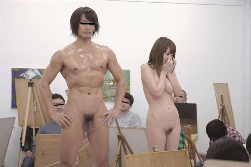【ヌードモデルエロ画像】デッサン用のヌードモデルがエロ過ぎてスケッチそっちのけで輪姦しちゃうヌードモデルのエロ画像集!ww【80枚】 07