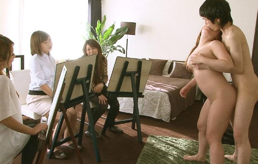 【ヌードモデルエロ画像】デッサン用のヌードモデルがエロ過ぎてスケッチそっちのけで輪姦しちゃうヌードモデルのエロ画像集!ww【80枚】 20