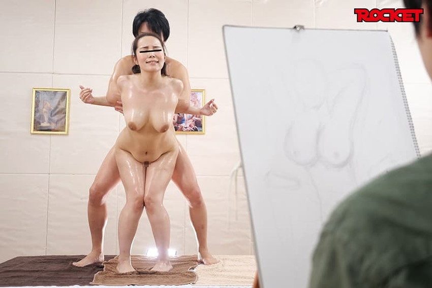 【ヌードモデルエロ画像】デッサン用のヌードモデルがエロ過ぎてスケッチそっちのけで輪姦しちゃうヌードモデルのエロ画像集!ww【80枚】 21