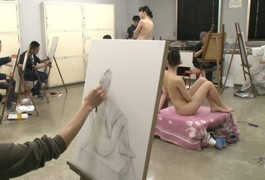 【ヌードモデルエロ画像】デッサン用のヌードモデルがエロ過ぎてスケッチそっちのけで輪姦しちゃうヌードモデルのエロ画像集!ww【80枚】 56