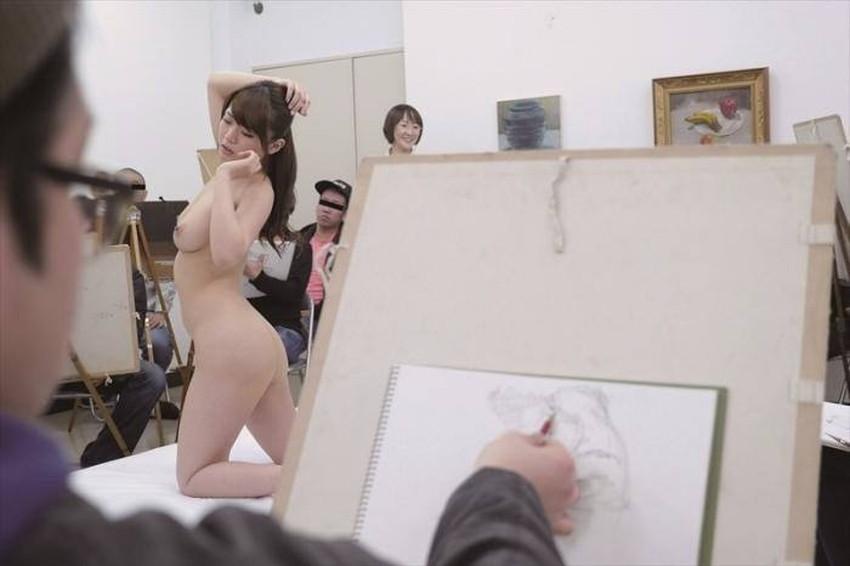 【ヌードモデルエロ画像】デッサン用のヌードモデルがエロ過ぎてスケッチそっちのけで輪姦しちゃうヌードモデルのエロ画像集!ww【80枚】 66