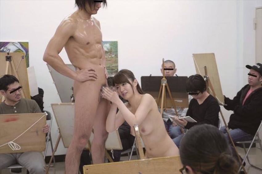 【ヌードモデルエロ画像】デッサン用のヌードモデルがエロ過ぎてスケッチそっちのけで輪姦しちゃうヌードモデルのエロ画像集!ww【80枚】 77