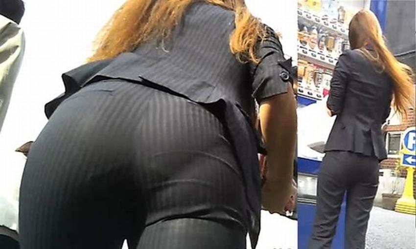 【パン線エロ画像】パンティーライン丸見えのパン線女子は全裸よりもエロいことに気がついていないパン線エロ画像集!ww【80枚】 52