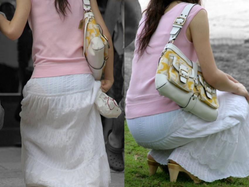 【透けパンツエロ画像】パンツ丸見えよりもタイトスカートや履いて下着が透けてる素人女子のほうが興奮しちゃう透けパンツのエロ画像酒!ww【80枚】 08