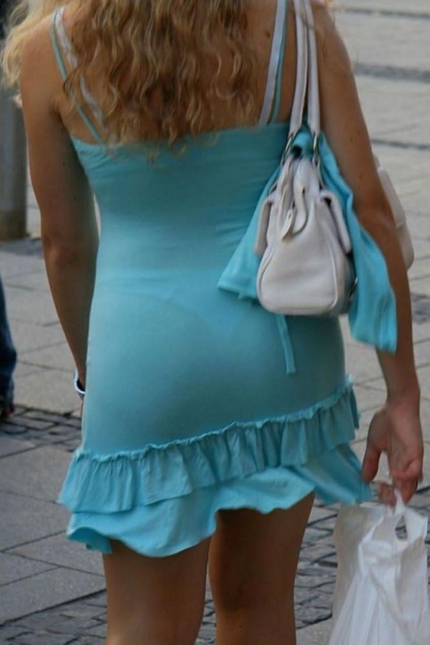 【透けパンツエロ画像】パンツ丸見えよりもタイトスカートや履いて下着が透けてる素人女子のほうが興奮しちゃう透けパンツのエロ画像酒!ww【80枚】 25