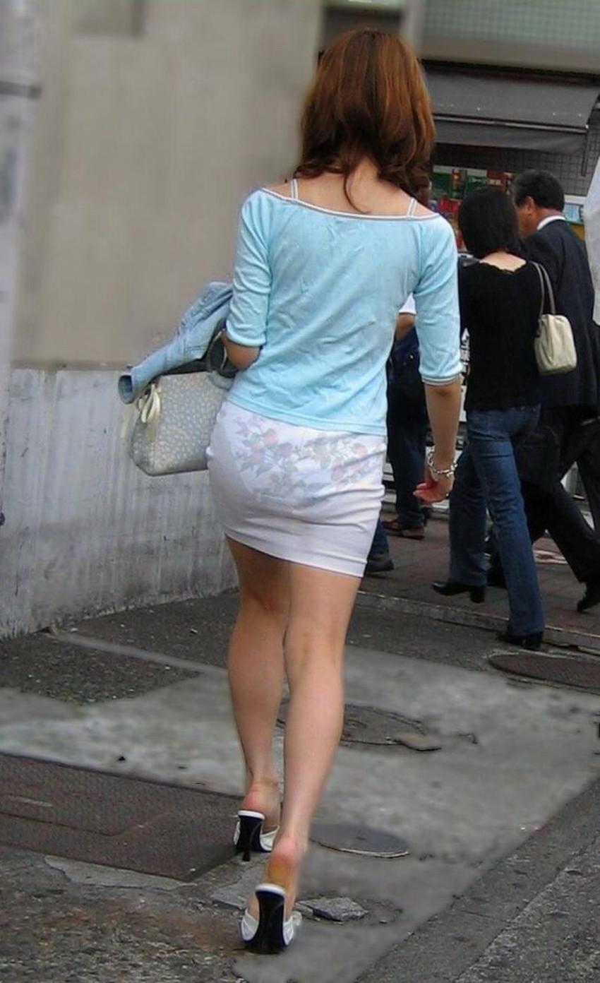 【透けパンツエロ画像】パンツ丸見えよりもタイトスカートや履いて下着が透けてる素人女子のほうが興奮しちゃう透けパンツのエロ画像酒!ww【80枚】 29