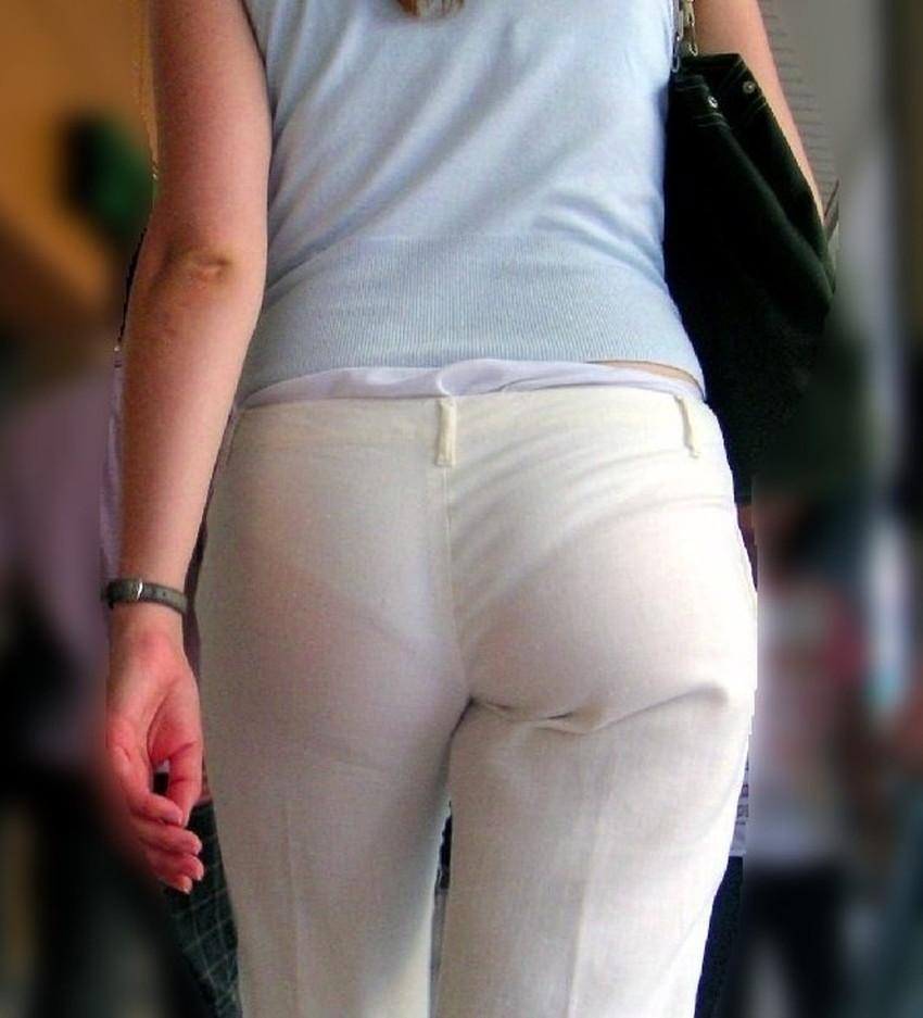 【透けパンツエロ画像】パンツ丸見えよりもタイトスカートや履いて下着が透けてる素人女子のほうが興奮しちゃう透けパンツのエロ画像酒!ww【80枚】 61