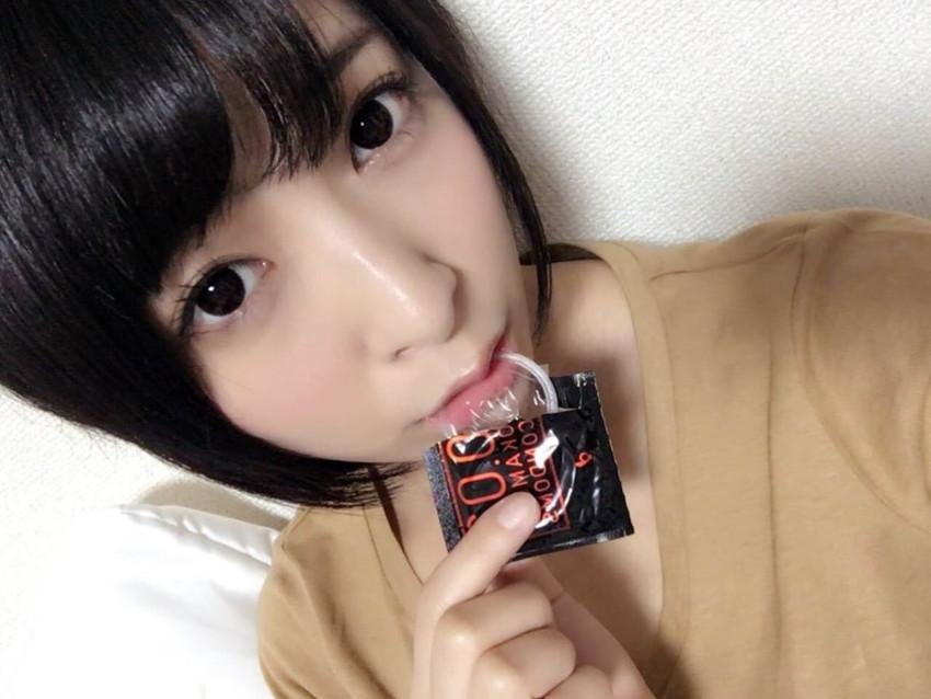 【咥えコンドームエロ画像】今にもコンドームをフェラで装着してくれそうな咥えコンドームのエロ画像集!ww【80枚】 10