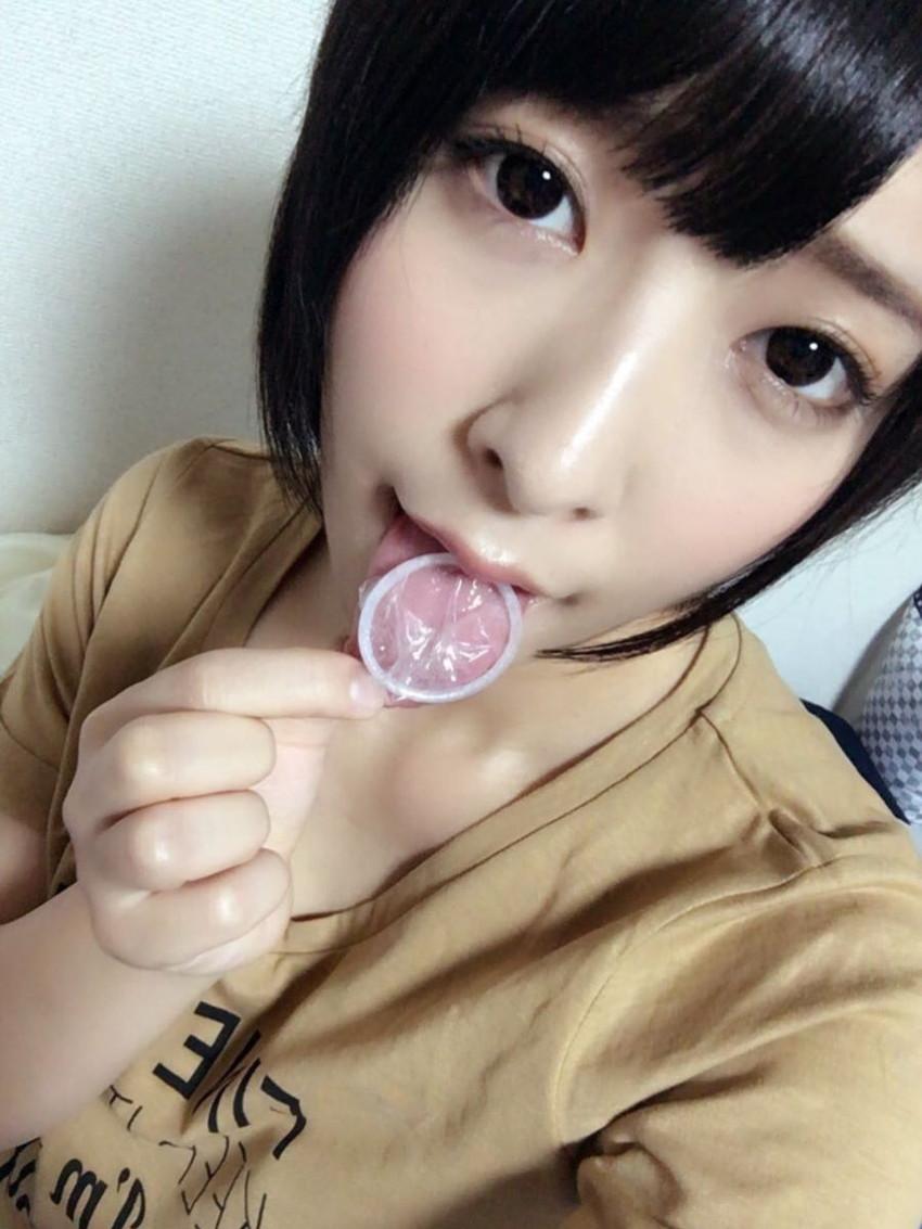 【咥えコンドームエロ画像】今にもコンドームをフェラで装着してくれそうな咥えコンドームのエロ画像集!ww【80枚】 80