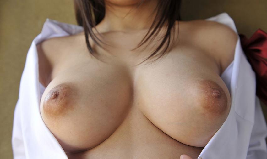 【裸Yシャツエロ画像】裸で男性用Yシャツ羽織る美女の破壊力は抜群!ww濡れ透け乳首や着衣セックスを堪能できる裸Yシャツのエロ画像集【80枚】 77