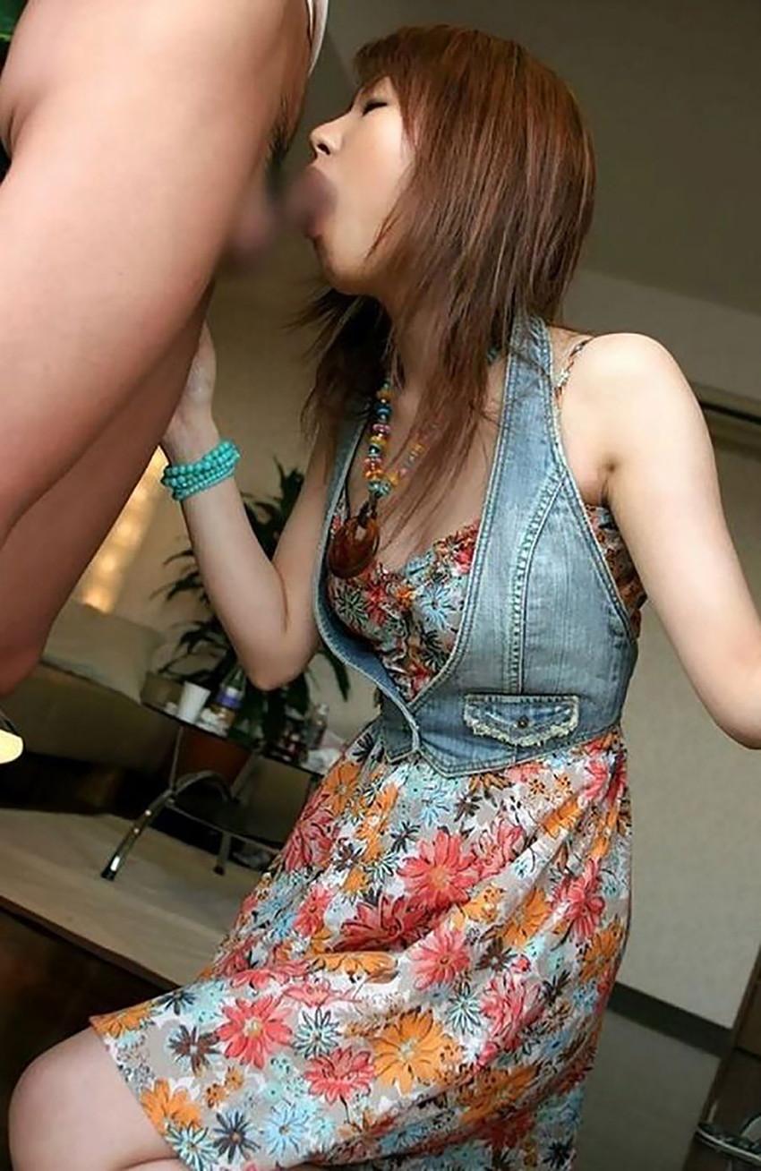 【着衣フェラエロ画像】着衣のままのフェラチオ画像に思わずフル勃起 07
