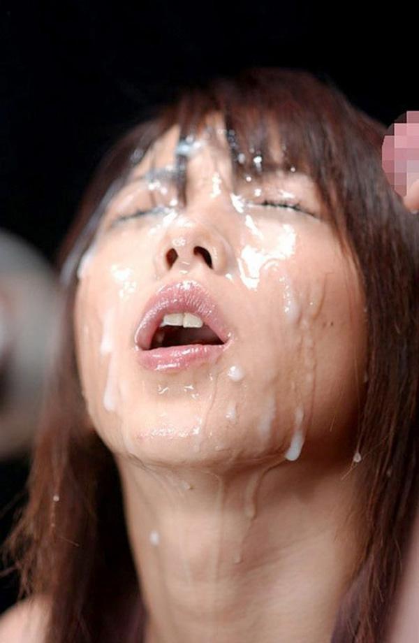 【顔射エロ画像】顔にベットリとかけられたザーメンが卑猥すぎ!www 12