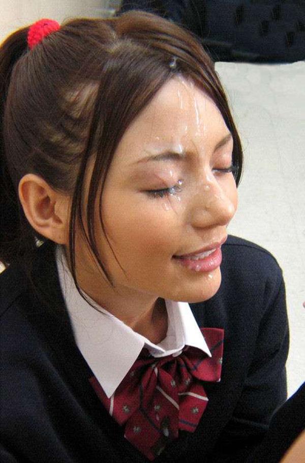 【顔射エロ画像】顔にベットリとかけられたザーメンが卑猥すぎ!www 21