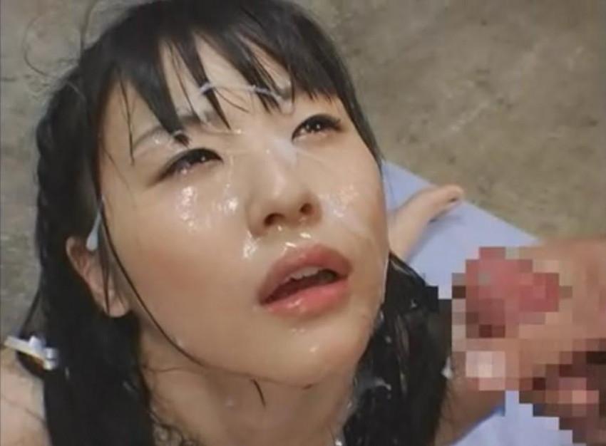 【顔射エロ画像】顔にベットリとかけられたザーメンが卑猥すぎ!www 29
